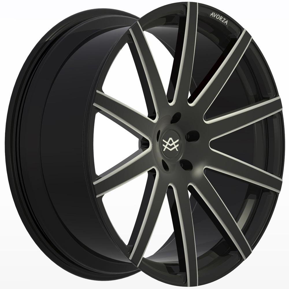 Avorza-Monoblock-Forged-Wheels-AV2-24x10-Black-White