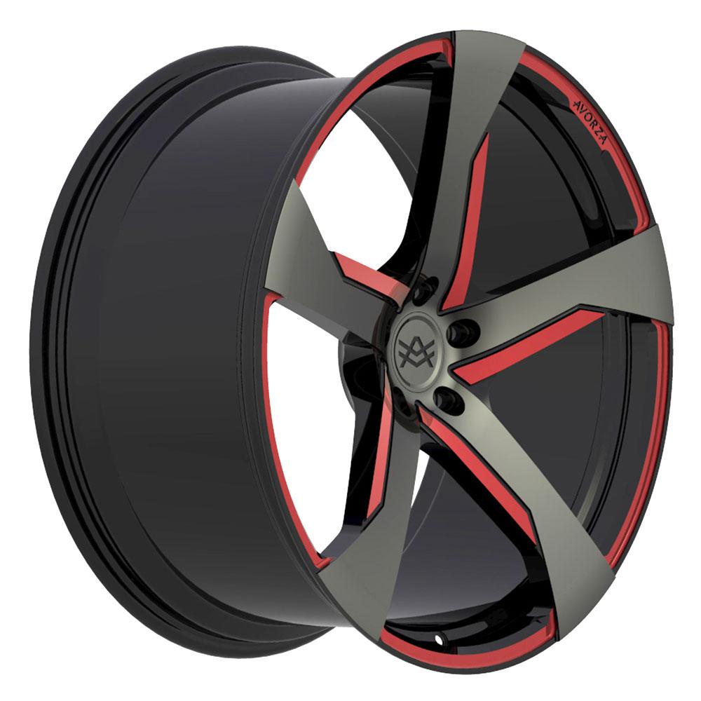 Avorza-Monoblock-Forged-Wheels-AV30-Black-Red-Grey