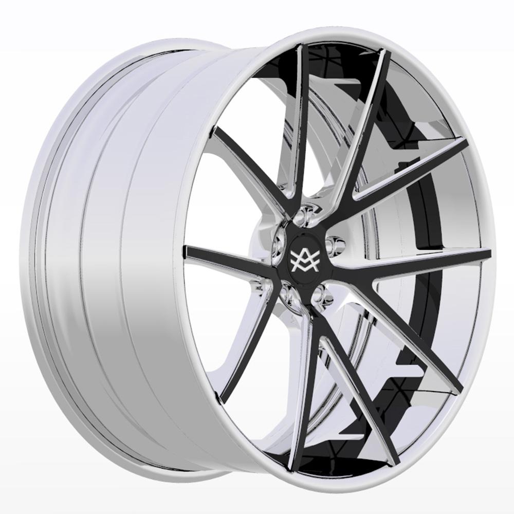 Avorza Multi Piece Forged Wheels AV43 Chrome Black Details